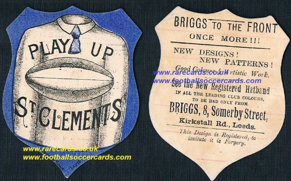 1890s Briggs Ireland Limerick St. Clement's RC college rugby team card